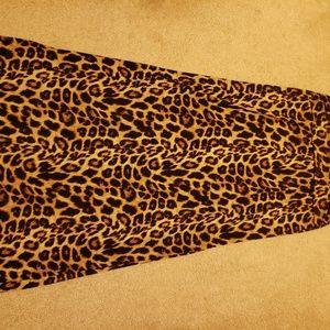 Animal print long skirt